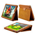 iPad 2 & new iPad cover case hoes - bruin leer