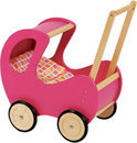 Poppenwagen Hout - Roze