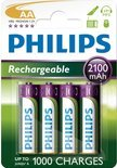 Philips R6B4A210/10 - AA 2100 mAh Oplaadbare Batterijen - 4 stuks