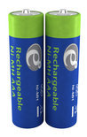 Ni-MH rechargeable AAA batteries 1000mAh 2pcs blister pack