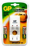 GP Powerbank batterijlader incl. 2 penlight AA oplaadbare batterijen