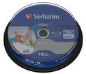 Verbatim, BD-R SL Datalife 25GB 6x Wide Inkjet Printable 10 Pack Spindle