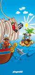 Badlaken Playmobil piraten: 75x150 cm