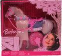 Barbie Wit Paard met Roze Toebehoren
