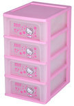 IRIS Hello Kitty - Ladekastje met 4 Lades - Roze/Transparant