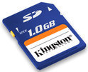Kingston SD Card 1GB - geheugenkaart