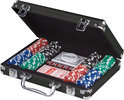 Pokerset 200 chips in zwarte aluminium koffer 11,5 gr
