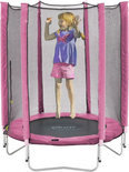 Plum Junior trampoline met net roze
