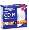 CD-R 80Min 700MB 52X Slim(10)