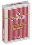 Copag 100% plastic Poker Jumbo Faces - Rood