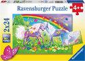 Regenboogpaarden- Kinderpuzzel - 2x 24 Stukjes