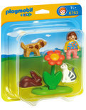 Playmobil 123 Meisje met Huisdieren - 6763