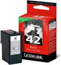 Lexmark 42 Inktcartridge - Zwart