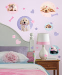 RoomMates - Muursticker Puppy Spots - Roze