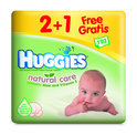 Huggies Natural Care - Billendoekjes - Wit 3-pack