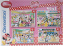 Clementoni 4 in 1 puzzel i love minnie 92087