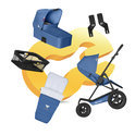 Koelstra Mambo Daily PACK - Kinderwagen Compleet - Cobalt Blauw