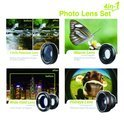 muvit Universal 4-in-1 Lens Set for Smartphones and Tablets