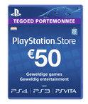 Sony PlayStation Network Voucher Card 50 Euro Nederland - PS4 + PS3 + PS Vita + PSN