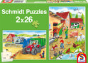 Schmidt Puzzels - Op de Boerderij (2x26 Stukjes)