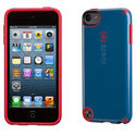 Speck CandyShell - Beschermhoes voor de Apple iPod Touch 5 - Harbor Blue / Pomodoro Red