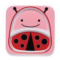 Skip Hop - Zoo verdeeld bord Lievenheersbeestje - Roze