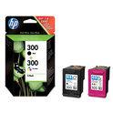 HP 300 - Inktcartridge / Zwart / 3 Kleuren