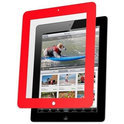 Nextware Clear Screen Shield met Rand, iPad 3, Rood