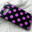 Samsung Galaxy S2 Polka Dot hoesje case cover - paars