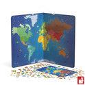 Magnetische Weltkarte - Tiere
