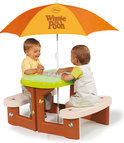 Smoby Winnie the Pooh Picknicktafel met Parasol