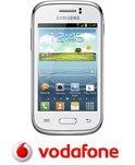 Vodafone Prepaidpakket: Samsung Galaxy Young (wit) met 10 euro beltegoed