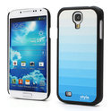 Samsung Galaxy S4 Back Case Hoesje Gradient Leather Coated Blauw
