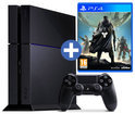 Sony PlayStation 4 Console 500GB + 1 Wireless Dualshock 4 Controller + Destiny - Vanguard Edition+ 30 dagen PSN Plus Voucher - Zwart PS4 Bundel