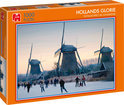 Jumbo Puzzel - Hollands Glorie: Schaatspret bij Kinderdijk - 1000 stukjes