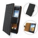 TCC Luxe Hoesje LG Optimus L5 Book Case Flip Cover E610 - Croco Zwart