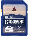 Kingston SD kaart 8 GB