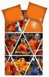 KNVB Team Spirit Dekbedovertrek - Oranje - 1-persoons - 140x200