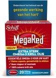 MegaRed 500mg Extra Sterk Omega-3 Krill Olie 20 stuks - Voedingssupplementen