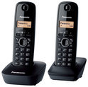 Panasonic KX-TG1612 - Duo DECT telefoon - Zwart