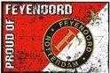 Feyenoord Vlag - Proud Of - 100 x 150 cm - Rood