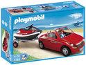 Playmobil Cabrio Met Aanhangwagen En Jetski - 5133