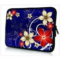 Sleevy 15,6 inch laptophoes rode/beige bloemen
