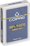Copag 100% plastic Poker Jumbo Faces - Blauw
