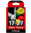 Lexmark 17 / 27 - Inktcartridge / Zwart