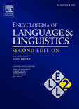 The Encyclopedia Of Language And Linguistics
