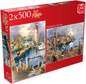 Jumbo Fishing By The Sea 2in1 - Puzzel - 500 stukjes