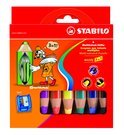 STABILO Woody 3-In-1 - 6-Pack + Puntenslijper