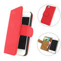TCC Luxe Hoesje iPhone 4(S) Book Case Flip Cover - Rood