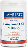 Lamberts L-Arginnie HCI 1000 mg - 90 tabletten